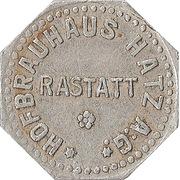 1 Glas Bier - Hofbrauhaus Hatz A.G. (Rastatt) – obverse