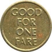 1 Fare - TRT Trolley (Virginia Beach, Virginia) – reverse