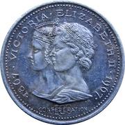 Medal - Confederation Centennial (Victoria & Elizabeth II; Color Silver) – obverse