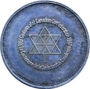 Medal - Confederation Centennial (Victoria & Elizabeth II; Color Silver) – reverse
