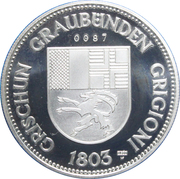 Medallion - Castles of Graubünden (Razen/Räzüns) – reverse