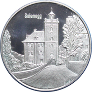 Medallion - Castles of Graubünden (Salenegg) – obverse