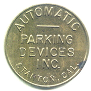 Parking Token - Automatic Parking Devices Inc. (Stanton, Cal.) – obverse