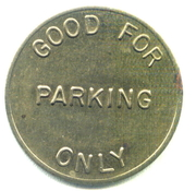 Parking Token - Automatic Parking Devices Inc. (Stanton, Cal.) – reverse