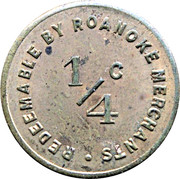 ¼ Cent - Sales Tax Token (Roanoke) – reverse