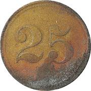 """25 Pfennig (Werth-Marke; Countermarked """"L"""") – reverse"""