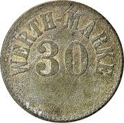 """30 Pfennig (Werth-Marke; Countermarked """"L"""") – obverse"""