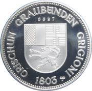Medallion - Castles of Graubünden (Bischöfliches in Fürstenau) – reverse