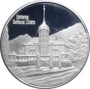 Medallion - Castles of Graubünden (Salis Unteres in Zizers) – obverse