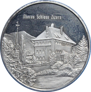 Medallion - Castles of Graubünden (Salis Oberes in Zizers) – obverse