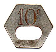 10 Centimes - Bateaux Parisiens (Paris) – reverse