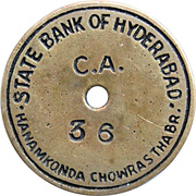 Token - State Bank of Hyderabad – obverse