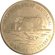 1 Dollar - Beatrice, Nebraska (First Homestead Centennial) – obverse
