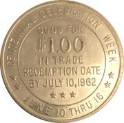 1 Dollar - Beatrice, Nebraska (First Homestead Centennial) – reverse