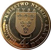 4 Dukaty - Księstwo Nyskie (Bł. Maria Markert) – reverse