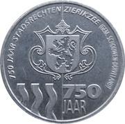 5 Zeecu - Zierikzee (750 years) – obverse