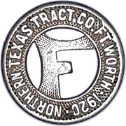 1 City Fare - Northern Texas Traction Company (Ft. Worth) – obverse