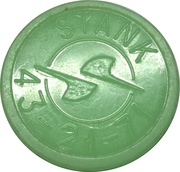 Metro Token - Kharkiv (Stank; Green opaque) – reverse