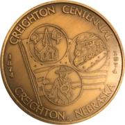 Token - Creighton, Nebraska Centennial – obverse