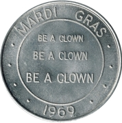 Mardi Gras Token - Gay Timers Carnival Club (Be A Clown; New Orleans) – obverse