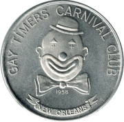Mardi Gras Token - Gay Timers Carnival Club (Be A Clown; New Orleans) – reverse