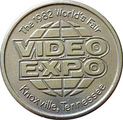 Token - Video Expo 1982 Worlds Fair (Donkey Kong) – reverse