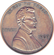 """1 Cent """"Lincoln - Wheat Ears Reverse"""" – obverse"""