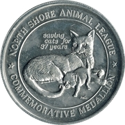 Medallion - North Shore Animal League – reverse
