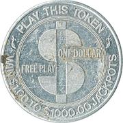 1 Dollar - El Morocco Casino (Las Vegas, Nevada) – reverse