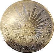 Token - Detroit 1701-1951 (over facsimile 1892 Mexico 8 Reales) – reverse