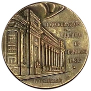 Token - Opening of the Building 19 February 1938 – obverse