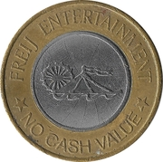 Amusement Token - Freij Entertainment (smaller inner circle, bi-metallic) – obverse