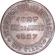Medal - 1st Centenary of the Rio Claro Foundation – obverse