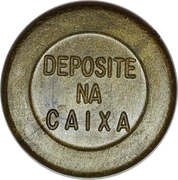 Token - Auto Viação Tijuca S.A. (round; S.A. in center, without star) – reverse
