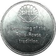 Token - Shell (Rolls-Royce Silver Ghost 1909) – reverse