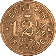 12 ½ Cents - Warner & Canfield (Sheridan, Wyo.) – reverse