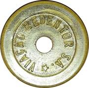 Token - Viação Redentor S.A. (round; whith hole; S.A. with star) – obverse