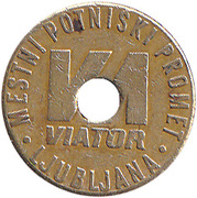 Token - LPP (Urban bus transport; Viator) – reverse
