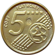 5 Euro Cent – Play Money – obverse