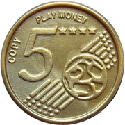 5 Euro Cent – Play Money – reverse