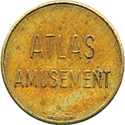 Token - Atlas Amusement – obverse