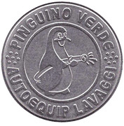 Car Wash Token - Pinguino verde – obverse