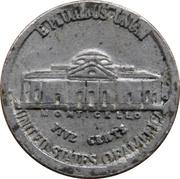 Token - Mini Coin (Jefferson Nickel) – reverse