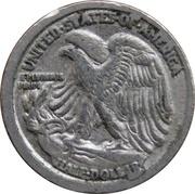 Token - Mini Coin (Walking Liberty Half Dollar) – reverse