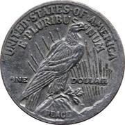 Token - Mini Coin (Peace Dollar) – reverse