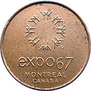 Token - Expo 67 Montreal (Canadian Pavilion) – reverse