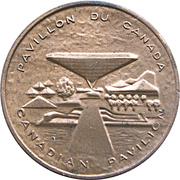 Token - Expo 67 Montreal (Canadian Pavilion) – obverse