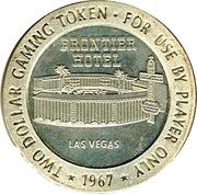 2 Dollars Gaming Token - Frontier Hotel (Las Vegas) – obverse
