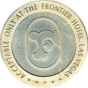 2 Dollars Gaming Token - Frontier Hotel (Las Vegas) – reverse
