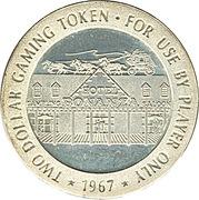 2 Dollars Gaming Token - Hotel Bonanza (Las Vegas, Nevada) – reverse